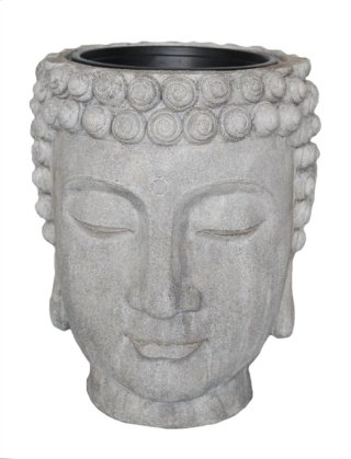 Gray Buddha Head Planter