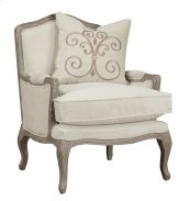 Emerald Home Salerno Chair W/1 Pillow Sand Gray/distressed U3693-05-09