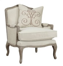 Emerald Home Salerno Chair W/1 Pillow Sand Gray/distressed U3693a-05-09