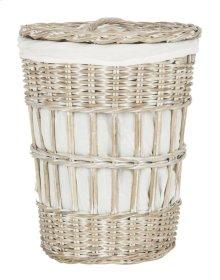 Maggy Storage Hamper With Liner - White Wash