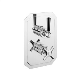 Waldorf 1500 Thermo Valve Trim (2 Outlets) - Polished Nickel