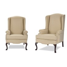 High Back Chair with Cherry Queen Anne Legs
