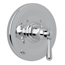Polished Chrome Verona Thermostatic Trim Plate Without Volume Control with Verona Series Only Metal Lever