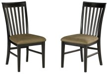 Mission Dining Chairs Set of 2 with Cappuccino Cushion in Espresso
