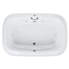 "Easy-Clean High Gloss Acrylic Surface, Oval, AirMasseur® - Whirlpool Bathtub, Premiere Package, 48"" X 72"""