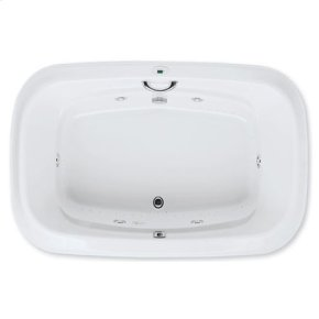 "Easy-Clean High Gloss Acrylic Surface, Oval, Whirlpool Bathtub, Standard Package, 48"" X 72"""