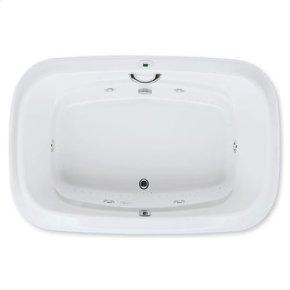 "Easy-Clean High Gloss Acrylic Surface, Oval, Whirlpool Bathtub, Standard Package, 48"" X 72"""