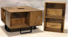 "#623 Crate Coffee Table 26.5""wx26.5""dx17""h"