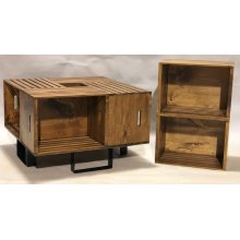 """#623 Crate Coffee Table 26.5""""wx26.5""""dx17""""h"""
