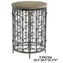 Sonoma Iron and Metal Rustic Wine Cabinet