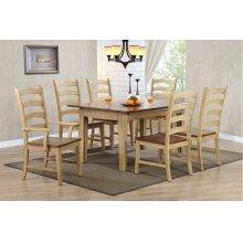 DLU-BR134-PW7PC  7 Piece Rectangular Extendable Dining Set