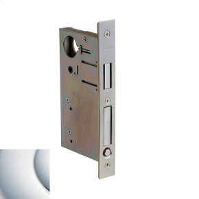 Polished Chrome 8632 Pocket Door Lock with Pull