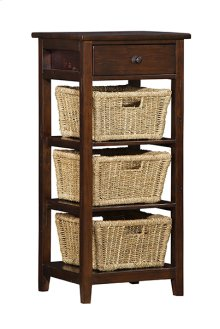 Tuscan Retreat 3 Basket Stand - Rustic Mahogany