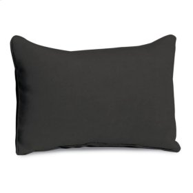 Lumbar Pillow - Jet Black Polyester Blend