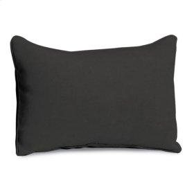 Lumbar Pillow - Jet Black Polyester Blend