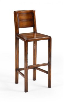 Planked Walnut Barstool (Side)