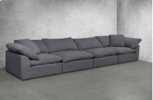 Sunset Trading Cloud Puff Slipcovered 4 Piece Modular Sectional Sofa - 391094