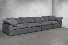 Sunset Trading Cloud Puff Slipcovered 4 Piece Modular Sectional Sofa - 391094