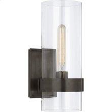 Visual Comfort S2166BZ-CG Ian K. Fowler Presidio 1 Light 6 inch Bronze Sconce Wall Light, Small