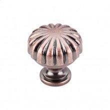 Melon Knob 1 1/4 Inch - Antique Copper