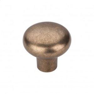Aspen Round Knob 1 3/8 Inch - Light Bronze