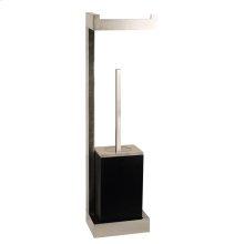 Wall mounted tissue holder w/black brush holder