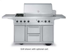 """53"""" Ultra-Premium T-Series Grill with Side Burners - VGBQ (53"""" wide with three standard 25,000 BTU burners and double side burners (LP/Propane))"""