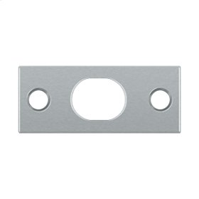 Strike Plate For Extension Flush Bolt - Brushed Chrome