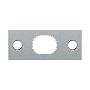 Strike Plate For Extension Flush Bolt - Brushed Chrome
