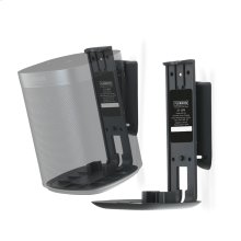 Black- Pair of secure and adjustable wall mounts.