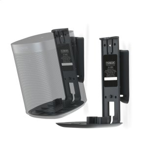SonosBlack- Pair of secure and adjustable wall mounts.