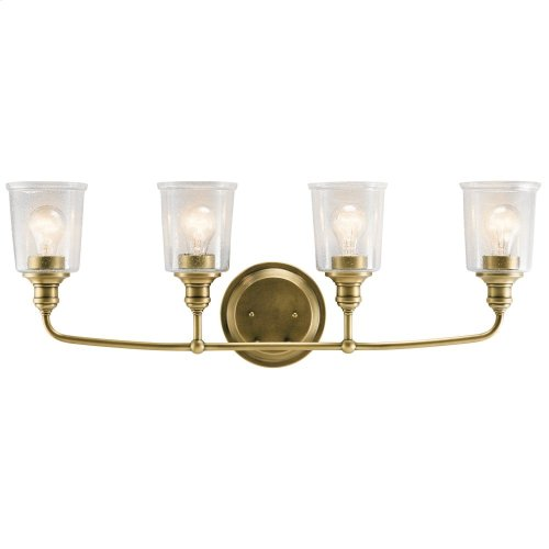 Waverly 4 Light Vanity Light Natural Brass