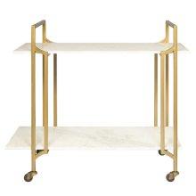 Metal & Marble Bar Cart