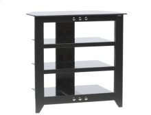 Black Audio Stand Contemporary design and solid construction come together to create strength and beauty