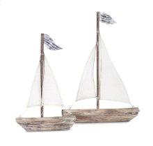 Wooden Sailboats - Set of 2
