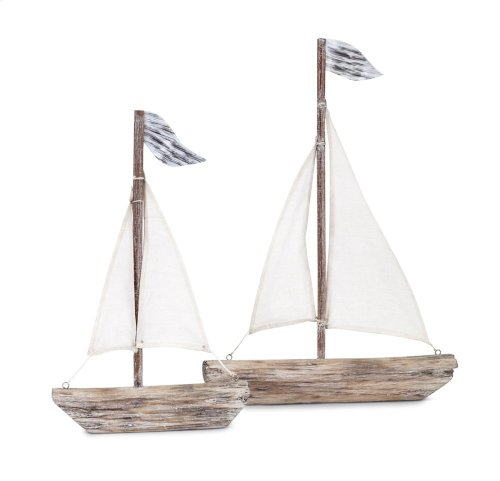 Wooden Sailboats - Set of 2