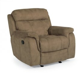 Casino Fabric Gliding Recliner