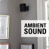 Sanus Black Wireless Speaker Swivel And Tilt Wall Mounts Designed For Sonos One. Play:1, And Play:3