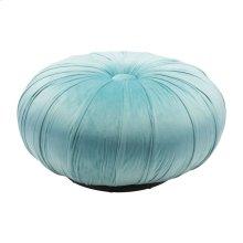 Bund Ottoman Light Blue Velvet