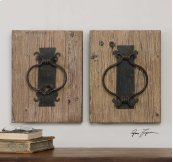 Rustic Door Knockers, S/2