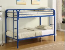 Twin / Twin Blue Metal Bunkbed