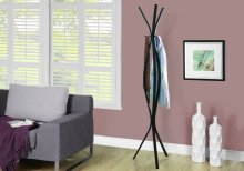 "COAT RACK - 72""H / CAPPUCCINO METAL CONTEMPORARY STYLE"