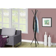 """COAT RACK - 72""""H / CAPPUCCINO METAL CONTEMPORARY STYLE"""