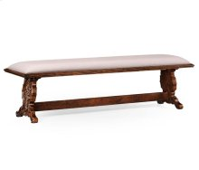 Long Portuguese Style Argentinian Walnut Bench