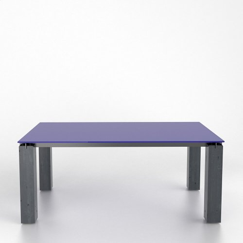Rectangular glass table with legs