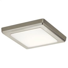 "Zeo 4000K LED 7"" Square Flush Mount Brushed Nickel"