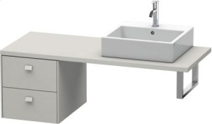 Brioso Low Cabinet For Console, Concrete Gray Matt Decor Product Image