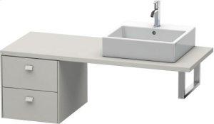 Brioso Low Cabinet For Console, Concrete Grey Matt Decor Product Image