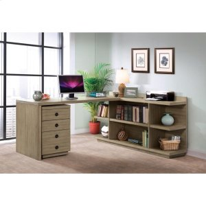 RiversidePerspectives - Mobile File Cabinet - Sun-drenched Acacia Finish