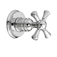 Randall 1/2 Inch or 3/4 Inch Wall Valve Trim with Cross Handle - Polished Chrome